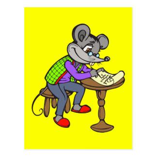Cartão Postal Letra da escrita do rato