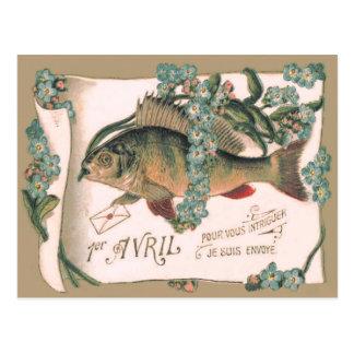 Cartão Postal Letra do miosótis dos peixes