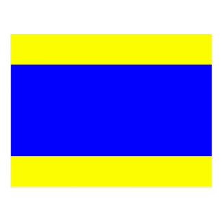 Cartão Postal Letra náutica D do sinal da bandeira (delta)