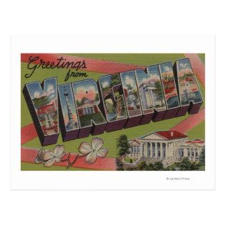 Cartão Postal Letra ScenesVirginia 2 de VirginiaLarge