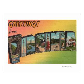 Cartão Postal Letra ScenesVirginia de VirginiaLarge