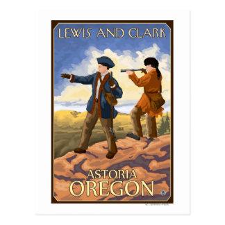 Cartão Postal Lewis e Clark - Astoria, Oregon