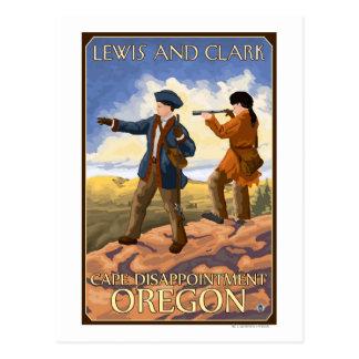 Cartão Postal Lewis e Clark - decepção do cabo, Oregon