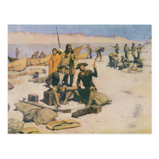 Cartão Postal Lewis e Clark no Rio Columbia