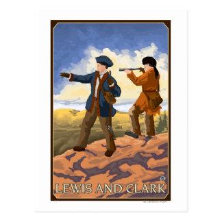 Cartão Postal Lewis e Clark que exploram o oeste