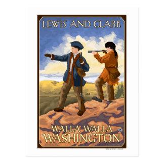 Cartão Postal Lewis e Clark - Walla Walla, Washington