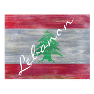 Cartão Postal Líbano afligiu a bandeira libanesa