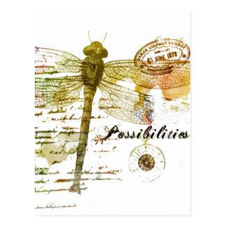 Cartão Postal Libélula das possibilidades