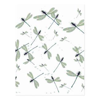 Cartão Postal libélulas no sol