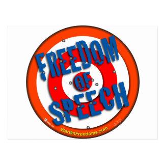 Cartão Postal Liberdade de expressão