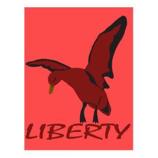 Cartão Postal Liberdade do pato