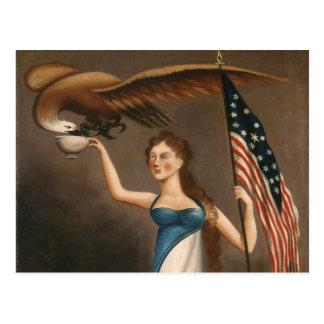 Cartão Postal Liberdade dos EUA da bandeira americana de Eagle