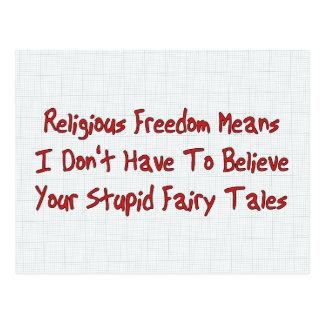 Cartão Postal Liberdade religiosa