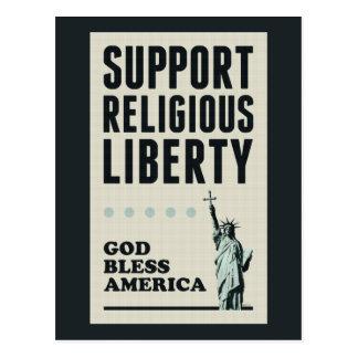 Cartão Postal Liberdade religiosa do apoio