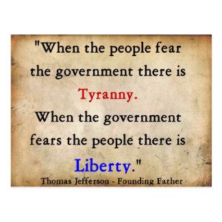 Cartão Postal Liberdade sobre a tirania