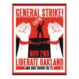 Cartão Postal Libere Oakland ocupam o insecto do protesto