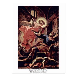 Cartão Postal Libertação de St Peter por Sebastiano Ricci