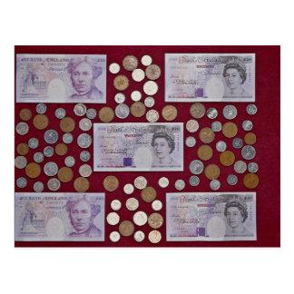 Cartão Postal Libras e moedas de um centavo