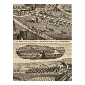 Cartão Postal Liço & Guerne com a residência de CA Bodwell