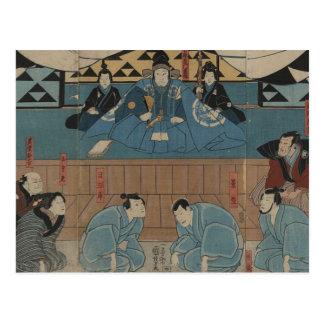 Cartão Postal Líder antigo do samurai cerca dos 1800s