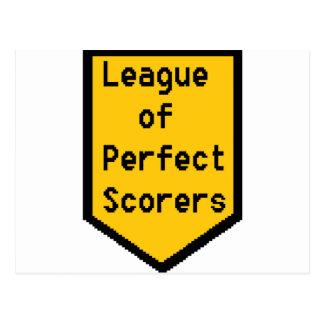Cartão Postal Liga de marcadores perfeitos (LPS)