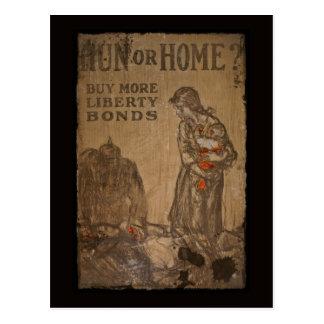Cartão Postal Ligações WWI do comprar do huno ou da casa