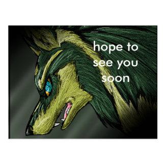 Cartão Postal Ligue o lobo por VolcanoQueen, esperança vê-lo