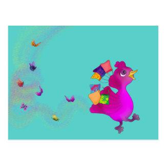 Cartão Postal Lila ama comprar pelos Feliz Juul Empresa