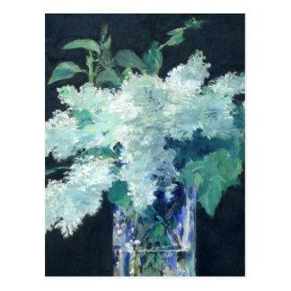 Cartão Postal Lilac branco por Edouard Manet