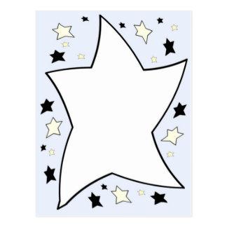 Cartão Postal lilac da estrela