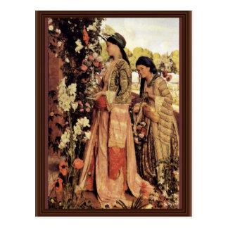 Cartão Postal Lilium Auratum por Lewis John Frederick</