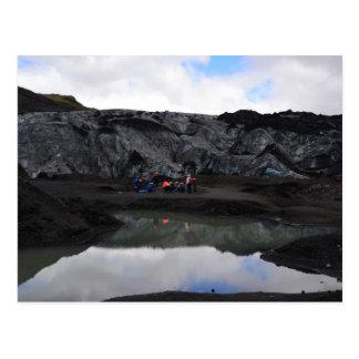 Cartão Postal Limite da geleira, Islândia sul
