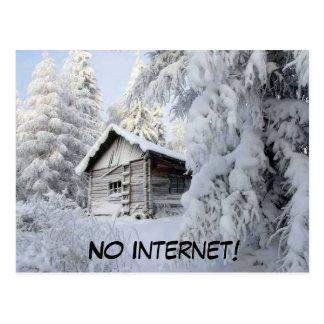 Cartão Postal Limite da neve