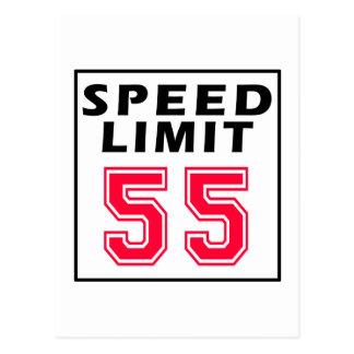 Cartão Postal Limite de velocidade 55 designs do aniversário