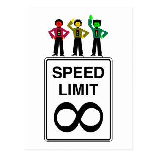 Cartão Postal Limite de velocidade infinito do trio