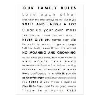 Cartão Postal Limites da família