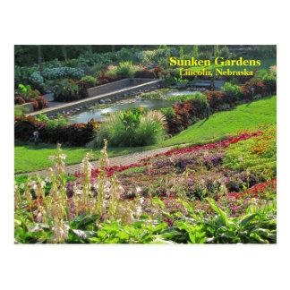 Cartão Postal Lincoln, jardins afundado #222N 0222   de Nebraska