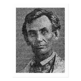 Cartão Postal Lincoln rendeu com endereço de Gettysburg