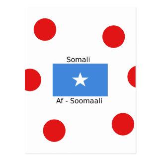 Cartão Postal Língua e design somalianos da bandeira de Somália