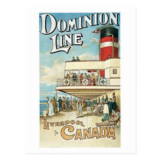 Cartão Postal Linha 1904 da autoridade do vintage anúncio do