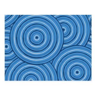 Cartão Postal Linha aborígene pintura