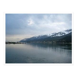 Cartão Postal Linha costeira ao longo de Juneau, Alaska
