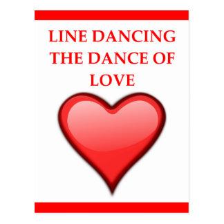 Cartão Postal linha dança