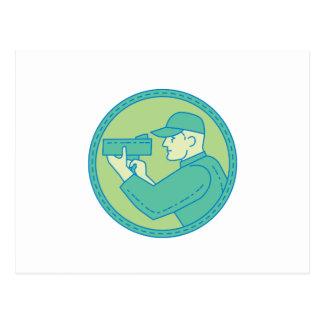 Cartão Postal Linha do círculo da arma do radar da velocidade do