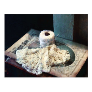 Cartão Postal Linha do Doily e do Crochet