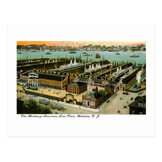 Cartão Postal Linha Hamburgo-Americana, Hoboken, New-jersey