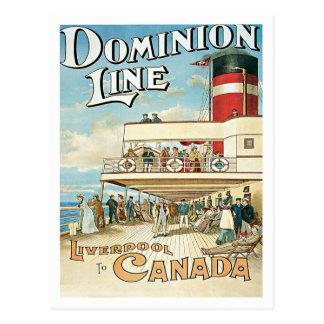 Cartão Postal Linha Liverpool da autoridade a Canadá