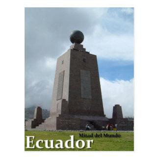 Cartão Postal Linha monumento do equador de Mitad del Mundo