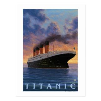 Cartão Postal Linha titânica da estrela de SceneWhite