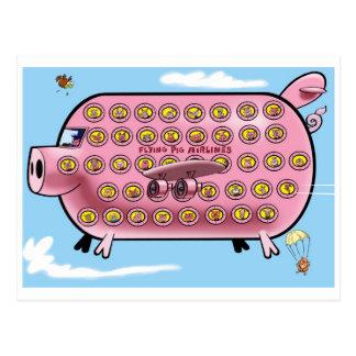 Cartão Postal Linhas aéreas do porco do vôo